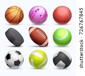 different 3d sports balls... | Shutterstock .eps vector #726767845