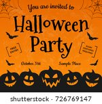 halloween party   concept of... | Shutterstock .eps vector #726769147