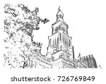 Sketch Of Clock Tower Sydney...