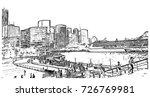 sketch of metropolitan area