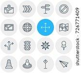 vector illustration of 16... | Shutterstock .eps vector #726771409