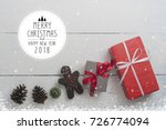 christmas and new year holidays ... | Shutterstock . vector #726774094