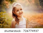 outdoor portrait of a cute... | Shutterstock . vector #726774937