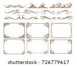 vintage frame set | Shutterstock .eps vector #726779617