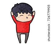 cartoon curious boy   Shutterstock .eps vector #726779905