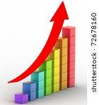 simple business chart | Shutterstock . vector #72678160