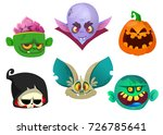 halloween characters icon set.... | Shutterstock .eps vector #726785641
