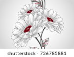 abstract floral seamless... | Shutterstock .eps vector #726785881