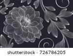 hand drawing floral background... | Shutterstock .eps vector #726786205