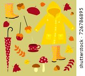 vector autumn set includes... | Shutterstock .eps vector #726786895