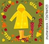 vector autumn set includes... | Shutterstock .eps vector #726786925