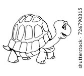 hand drawing of a smiley turtle ...   Shutterstock .eps vector #726790315