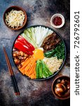 bibimbap  traditional korean... | Shutterstock . vector #726792601