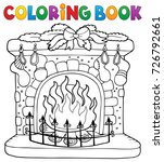 coloring book christmas... | Shutterstock .eps vector #726792661