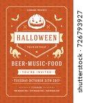 halloween celebration night... | Shutterstock .eps vector #726793927