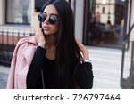 fashion close up portrait of... | Shutterstock . vector #726797464