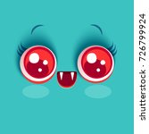 vector cute face of vampire... | Shutterstock .eps vector #726799924