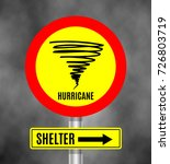 stormy weather ahead sign board ... | Shutterstock .eps vector #726803719