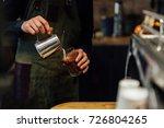 barista making hot chocolate ... | Shutterstock . vector #726804265