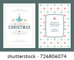 christmas greeting card design... | Shutterstock .eps vector #726806074