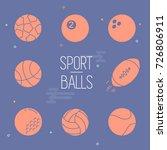 sport balls vector illustration ... | Shutterstock .eps vector #726806911