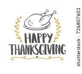 thanksgiving day festive... | Shutterstock .eps vector #726807601