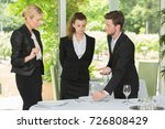 waiter learning to set table... | Shutterstock . vector #726808429