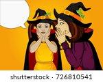 halloween. the little girl's... | Shutterstock .eps vector #726810541