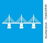 bridge icon white isolated on... | Shutterstock . vector #726810949