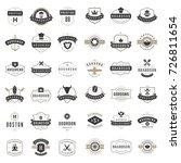 vintage logos design templates... | Shutterstock .eps vector #726811654