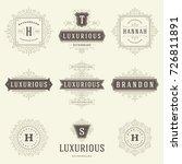 luxury logos templates set ...   Shutterstock .eps vector #726811891