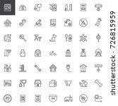 pet shop accessories line icons ... | Shutterstock .eps vector #726815959