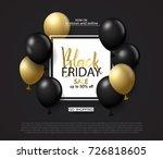 black friday sale background...   Shutterstock .eps vector #726818605