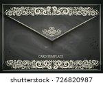 chalkboard designed vintage... | Shutterstock .eps vector #726820987