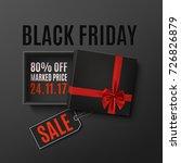 black friday sale design.... | Shutterstock .eps vector #726826879