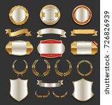luxury golden labels retro... | Shutterstock .eps vector #726826939