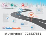 business road map timeline... | Shutterstock .eps vector #726827851