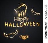 happy halloween. vector... | Shutterstock .eps vector #726828211