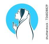 vector portrait of virgin mary... | Shutterstock .eps vector #726828829