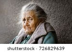 portrait of a very old and... | Shutterstock . vector #726829639