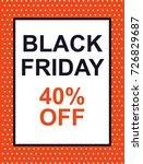 black friday. flat design for...   Shutterstock .eps vector #726829687