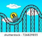 bitcoin roller coaster pop art... | Shutterstock .eps vector #726829855