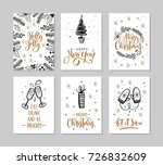 set christmas and happy new... | Shutterstock .eps vector #726832609