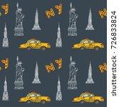 hand drawn vector seamless... | Shutterstock .eps vector #726833824