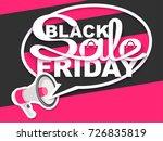 black friday sale. sale banner... | Shutterstock .eps vector #726835819