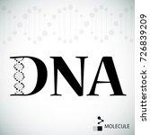 logo dna structure. vector... | Shutterstock .eps vector #726839209