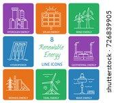 collection of renewable energy... | Shutterstock .eps vector #726839905