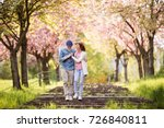 beautiful senior couple in love ... | Shutterstock . vector #726840811
