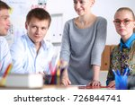 young business people working... | Shutterstock . vector #726844741