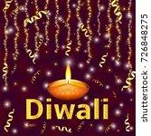 happy diwali   traditional... | Shutterstock .eps vector #726848275